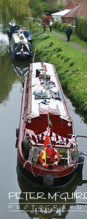 Group of Canal Boats at South Kyme
